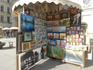 весна в городе, выставка картин