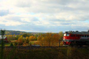 осень, поезд