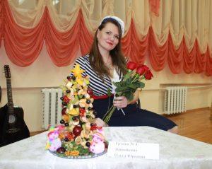 Ольга Живойкина ёлочка из фруктов