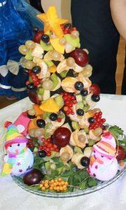 ёлка из фруктов