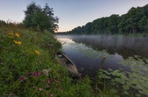Фото: Андрей Олонцев. Лето. Река. Рассвет.