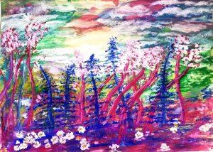 Наталья Заболотнева. Цветущая на небе красота.